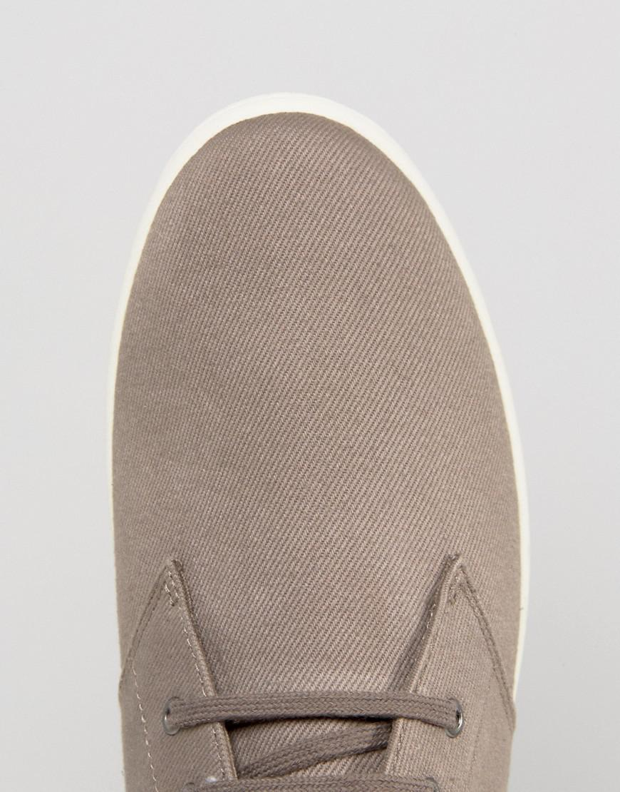 Fred Perry Byron Low Twill Sneakers in Beige (Natural) for Men
