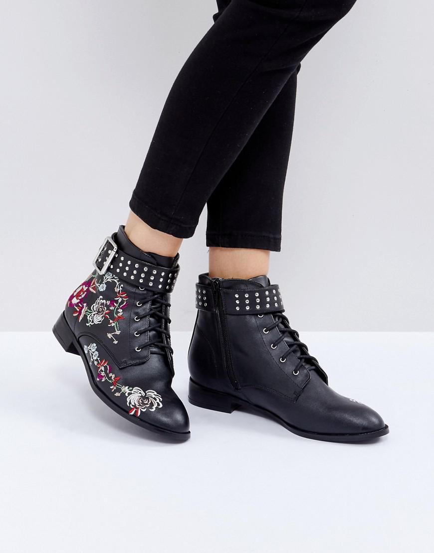 Miss Selfridge Dos Nu Constellé Bottines Ouest - Noir pLAiUCe