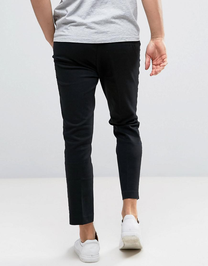Weekday Cotton Sergei Trousers in Black for Men