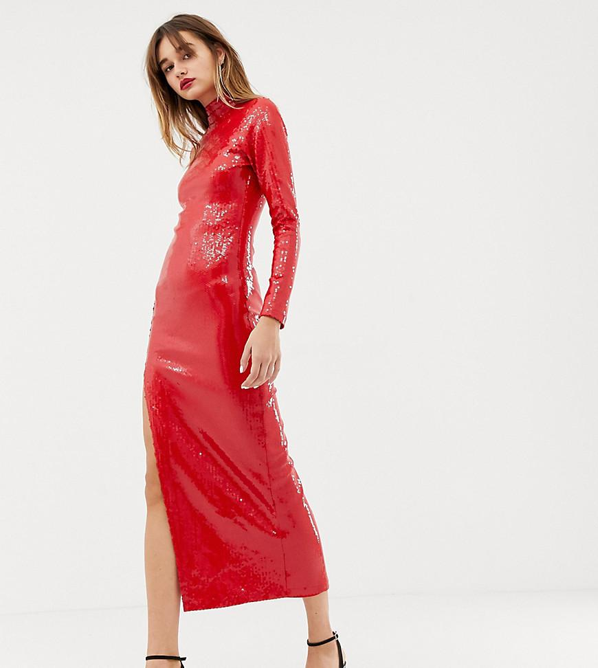 23767f45 Warehouse X Ashish Sequin Maxi Dress In Red in Red - Lyst