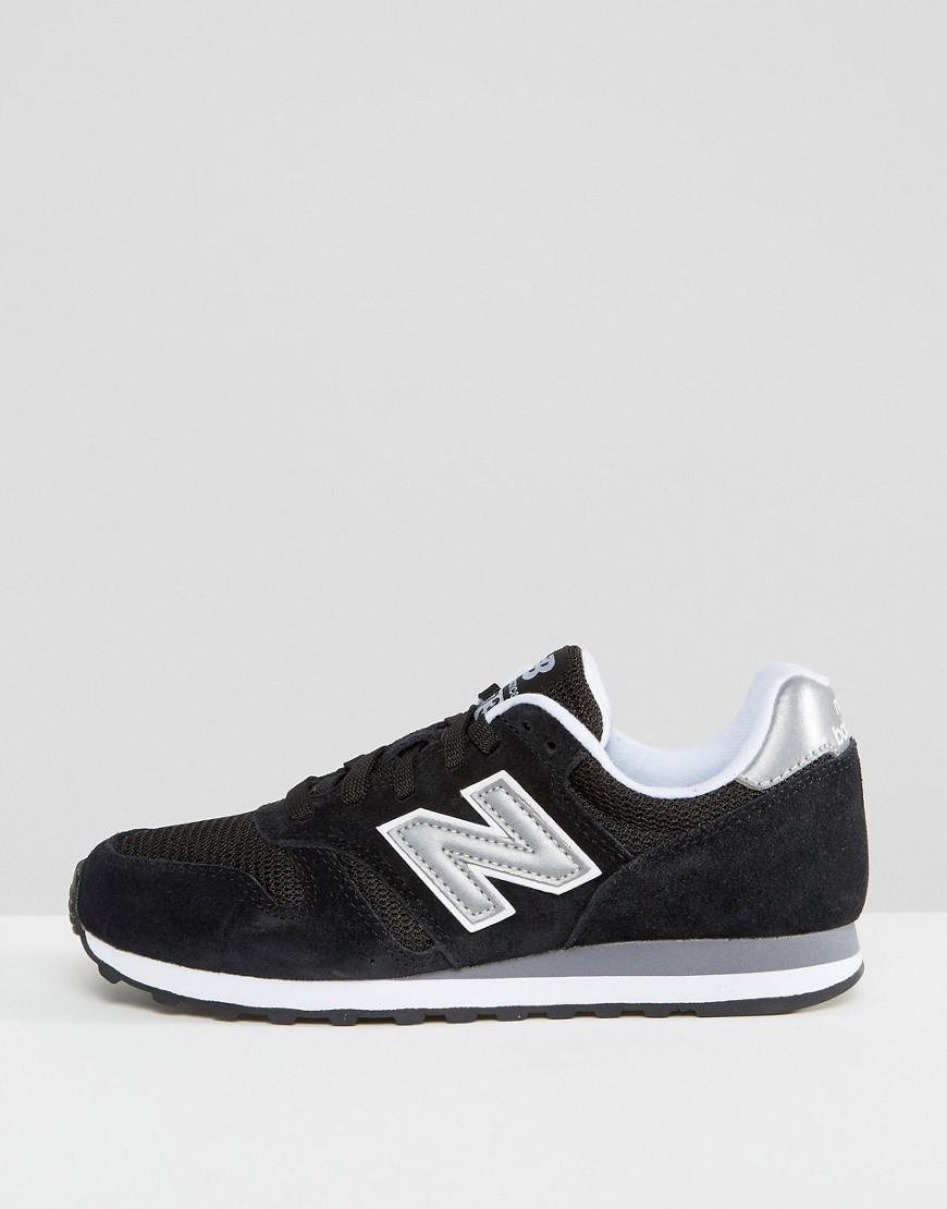 outlet store 7241f aedca New Balance 373 Trainers In Black in Black - Lyst