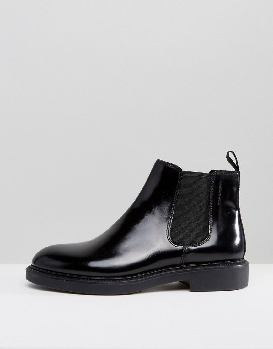 cbaa7403cc6 Vagabond Alex Black Polished Leather Chelsea Boots