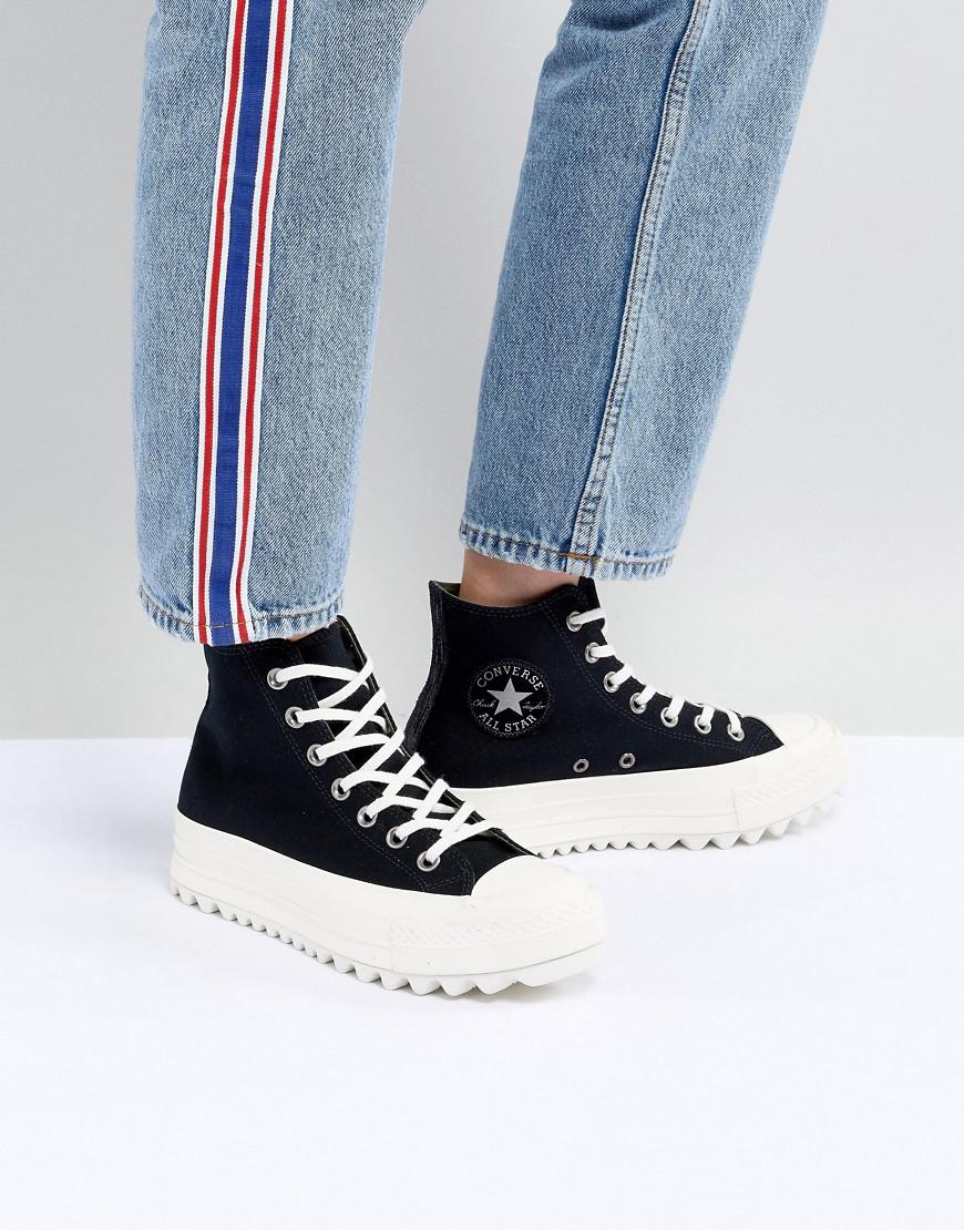 Lyst - Converse Chuck Taylor All Star Hi Lift Ripple Sneakers In ... f7cd4561d