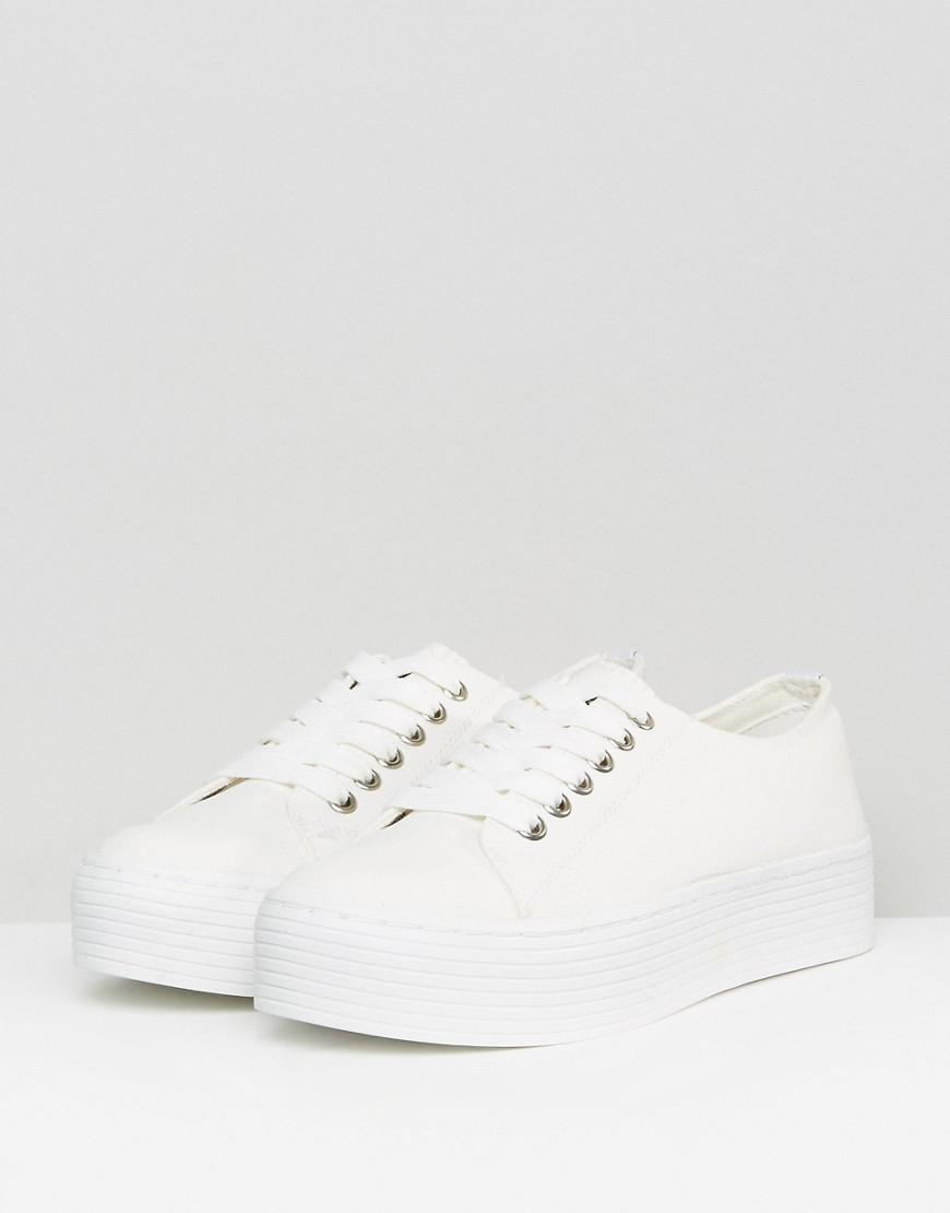 Sixtyseven Canvas Flatform Sneaker in White