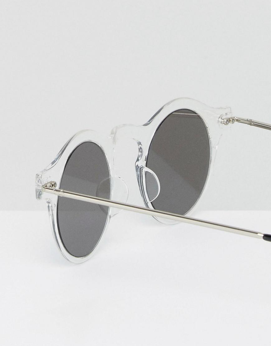 3f1af738c Spitfire Nexus Round Sunglasses With Silver Mirror Lens in Metallic ...