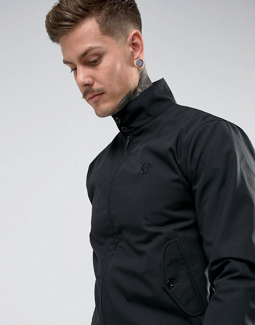 Fred Perry Synthetic Reissues Harrington Jacket In Black for Men