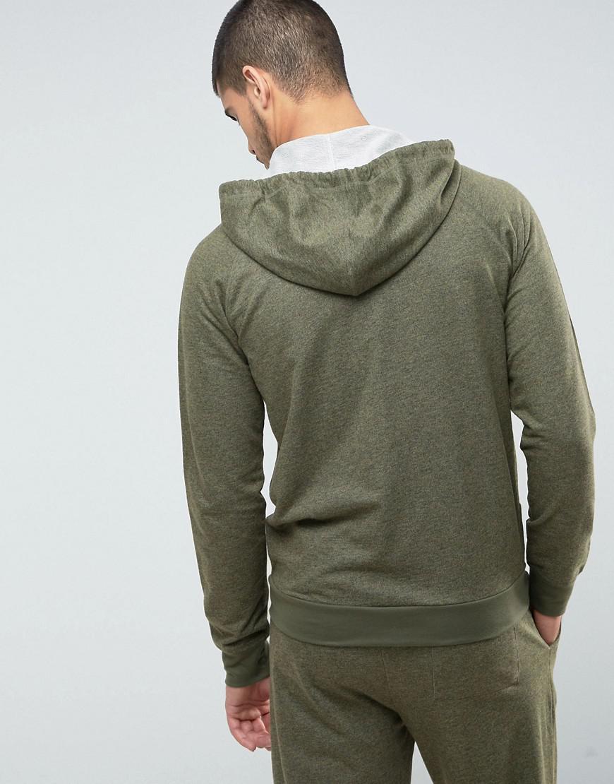 1115d9daa Paul Smith Marl Hoodie In Khaki in Green for Men - Lyst