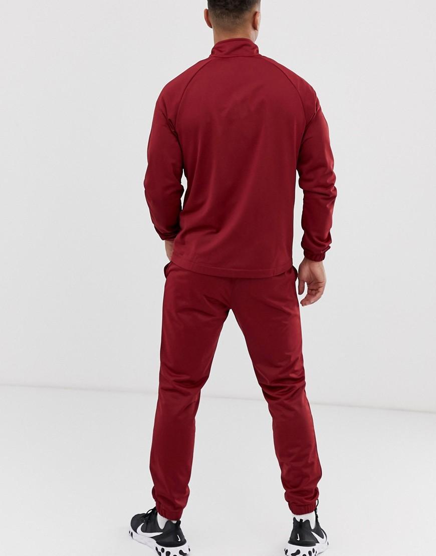 günstige Preise große sorten neu kaufen Nike Baumwolle Burgunderroter Trainingsanzug mit Logo in Rot ...