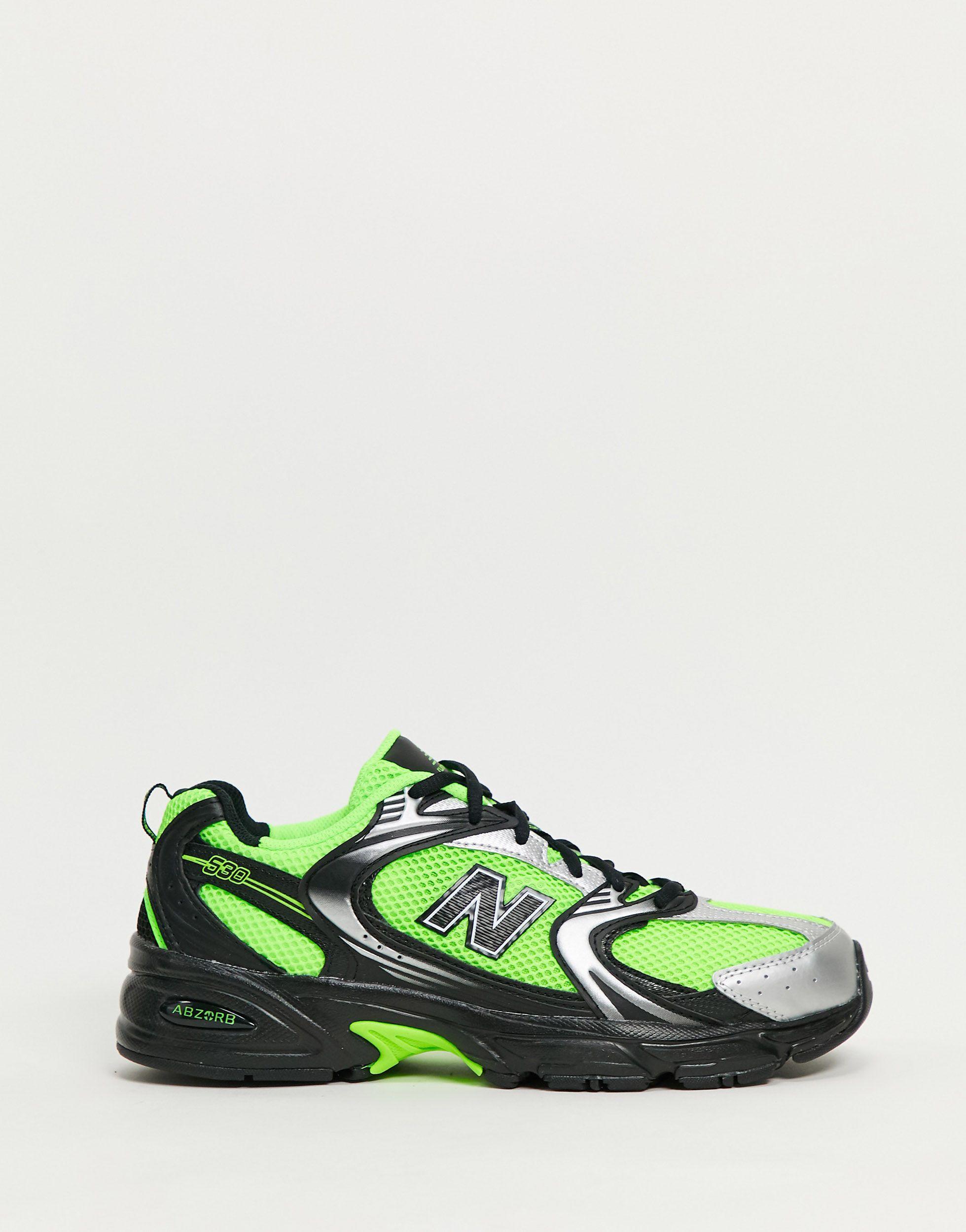 530 - Baskets - fluo Cuir New Balance pour homme en coloris Vert ...