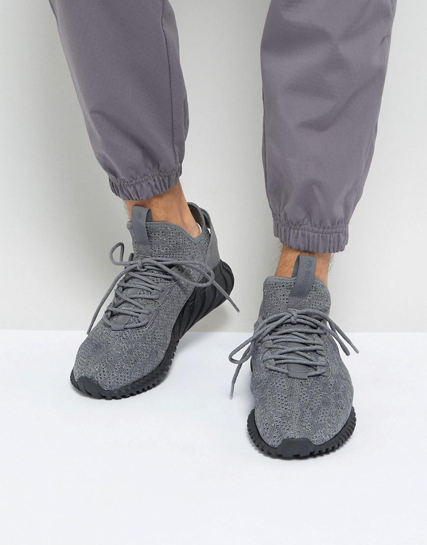 d6f3b82d3 adidas Originals Tubular Doom Sock Primeknit Trainers In Grey By3564 ...