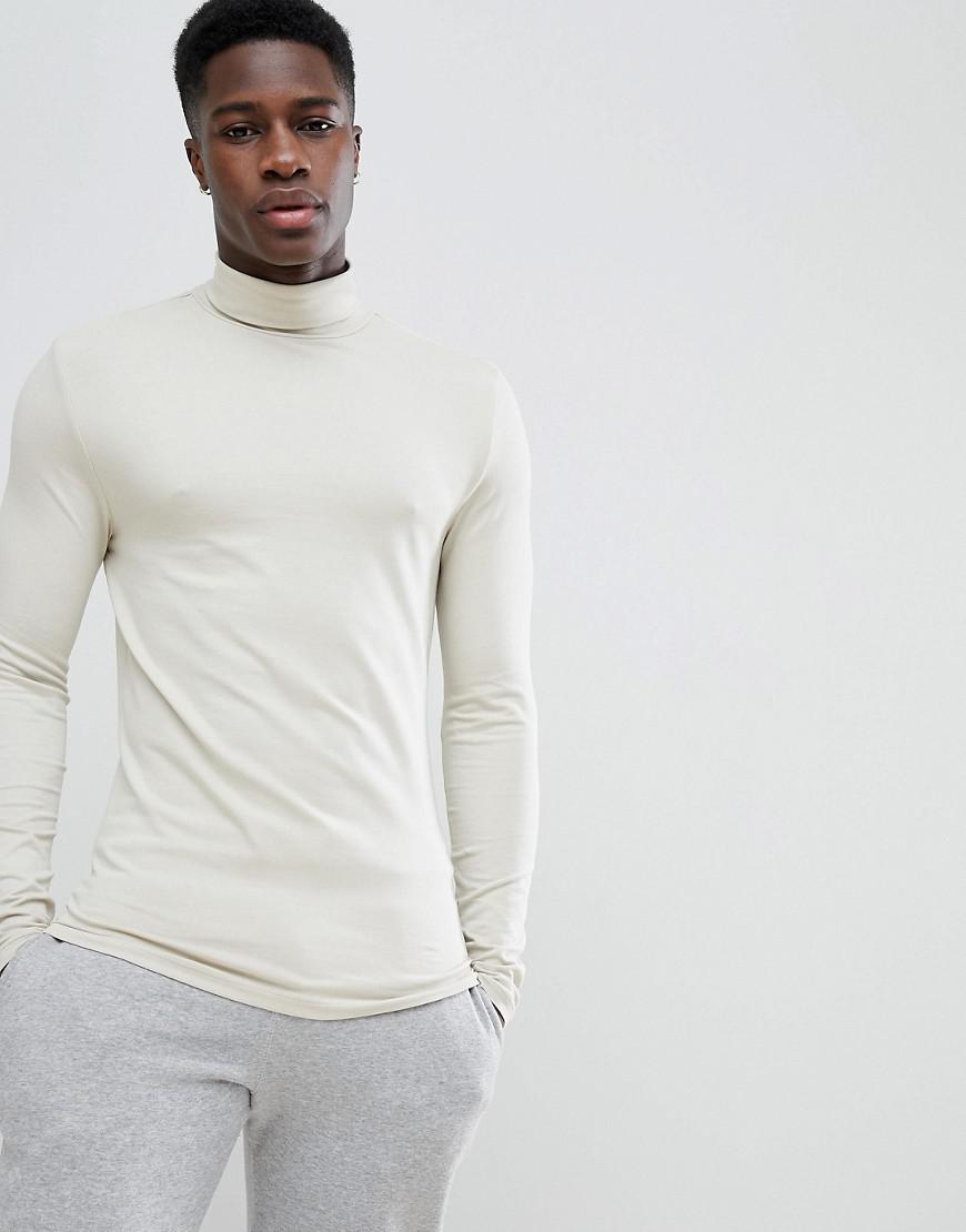 Lyst asos design muscle fit long sleeve t shirt with for Asos design free t shirt
