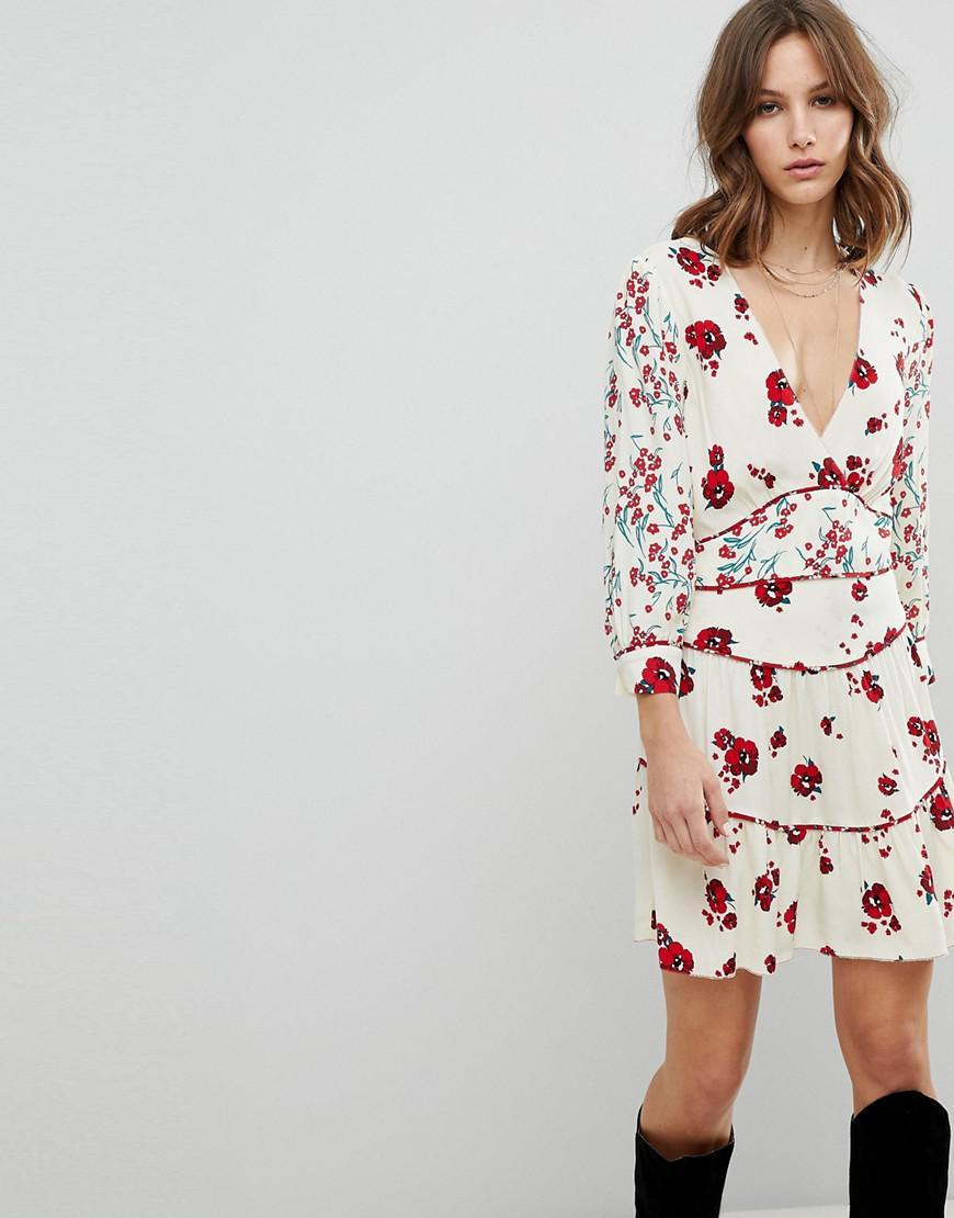 0ede475a91761d Ba Sh Floral Bloom Mini Dress in White - Lyst