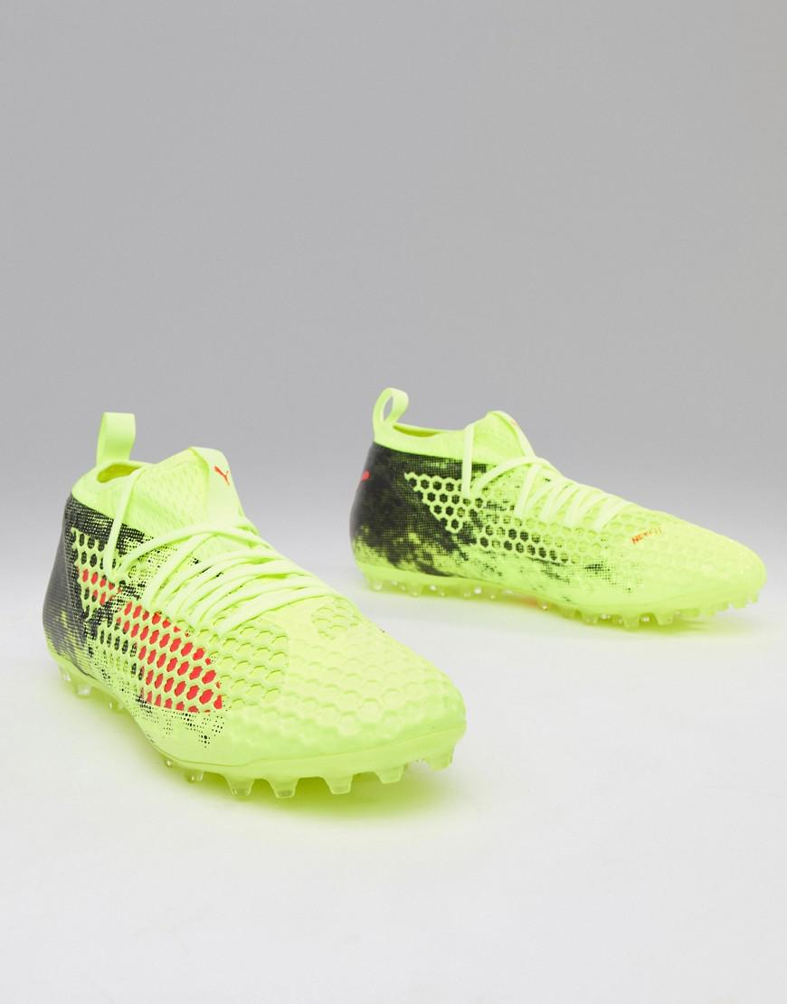 f791b8a3d907 Lyst - PUMA Future 18.2 Netfit Trainers in Yellow for Men