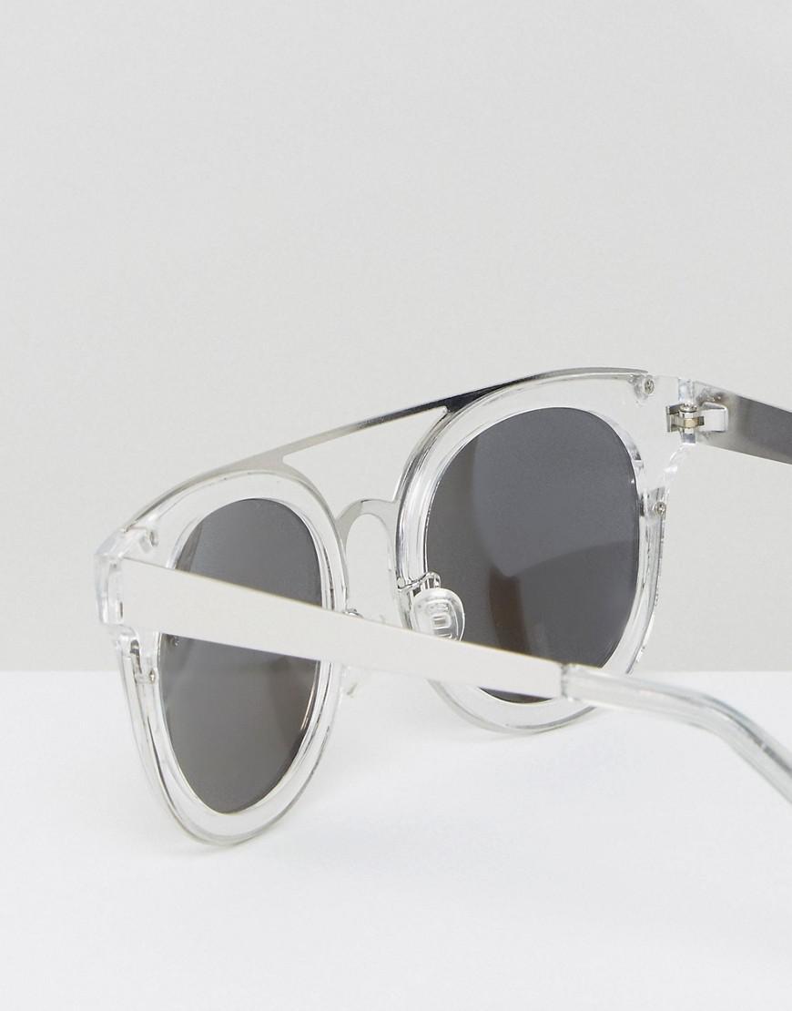 fa114768804ec Lyst - Quay Brooklyn Clear Lens Sunglasses