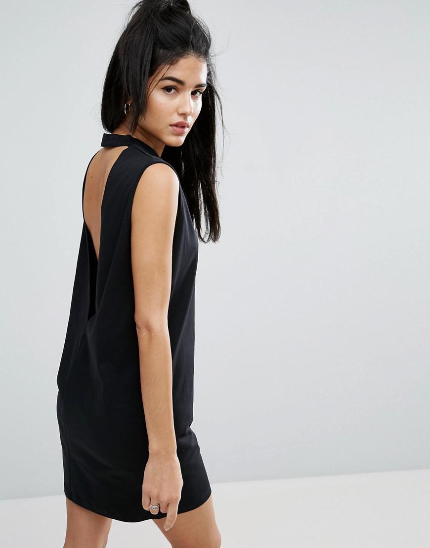 Lyst - Asos Sleeveless T-shirt Dress With V Back in Black
