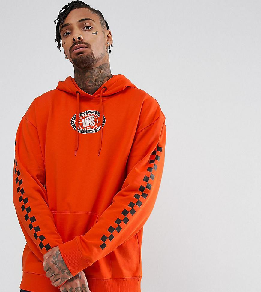 a532cd3cafb Vans Pullover Hoodie With Arm Print In Orange Exclusive At Asos in ...