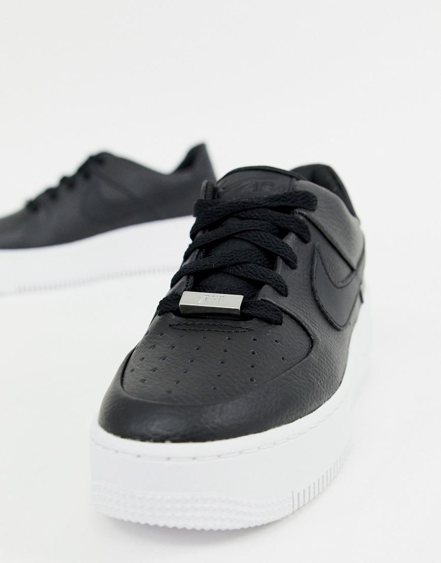 690794a9c31 Nike Black Air Force 1 Sage Sneakers in Black - Lyst