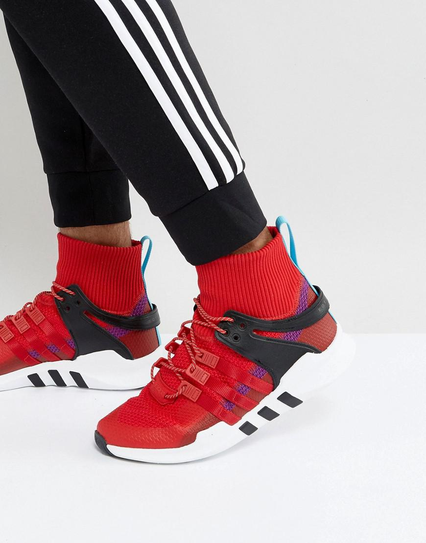 Eqt Support Adv Winter Trainers In Red Bz0640