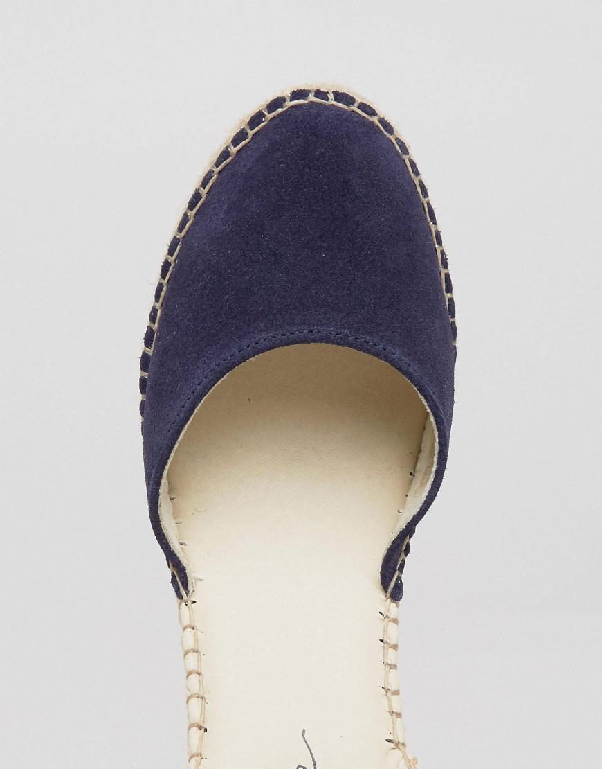 01cdb31352c Park Lane Blue Suede Tie Ankle Espadrille Wedge