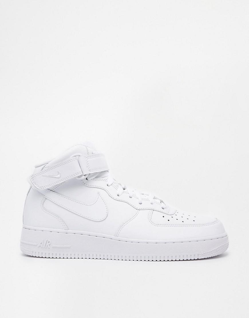 Air Men's White Trainers In Force '07 Mid 1 bf7yYg6