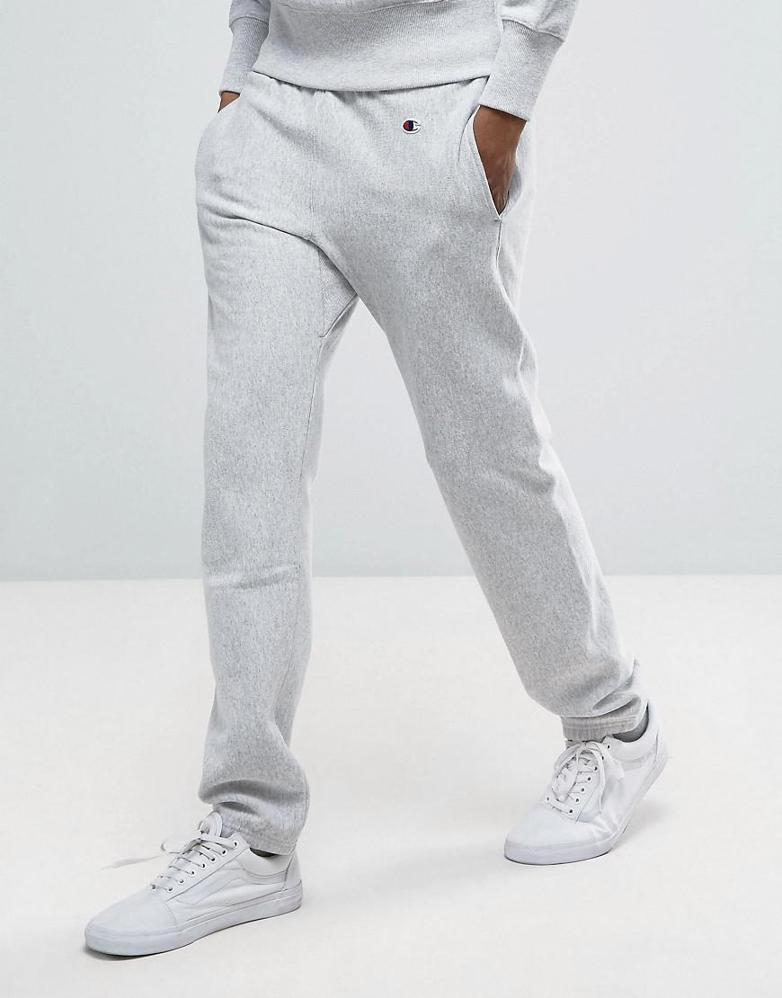 cdf21908 Lyst - Champion Joggers With Small Logo in Gray for Men