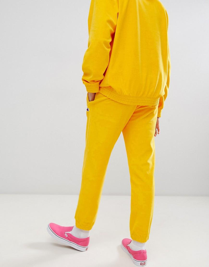 61723ddf Champion Velour joggers In Yellow in Yellow for Men - Lyst