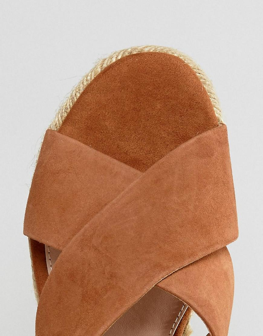 a081c8307 Mango Wedge Espadrille Sandals in Natural - Lyst