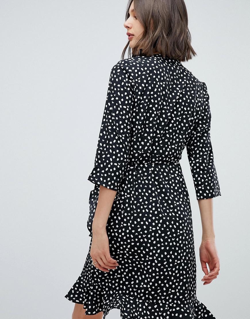 317556aec Lyst - Vero Moda Printed Wrap Dress