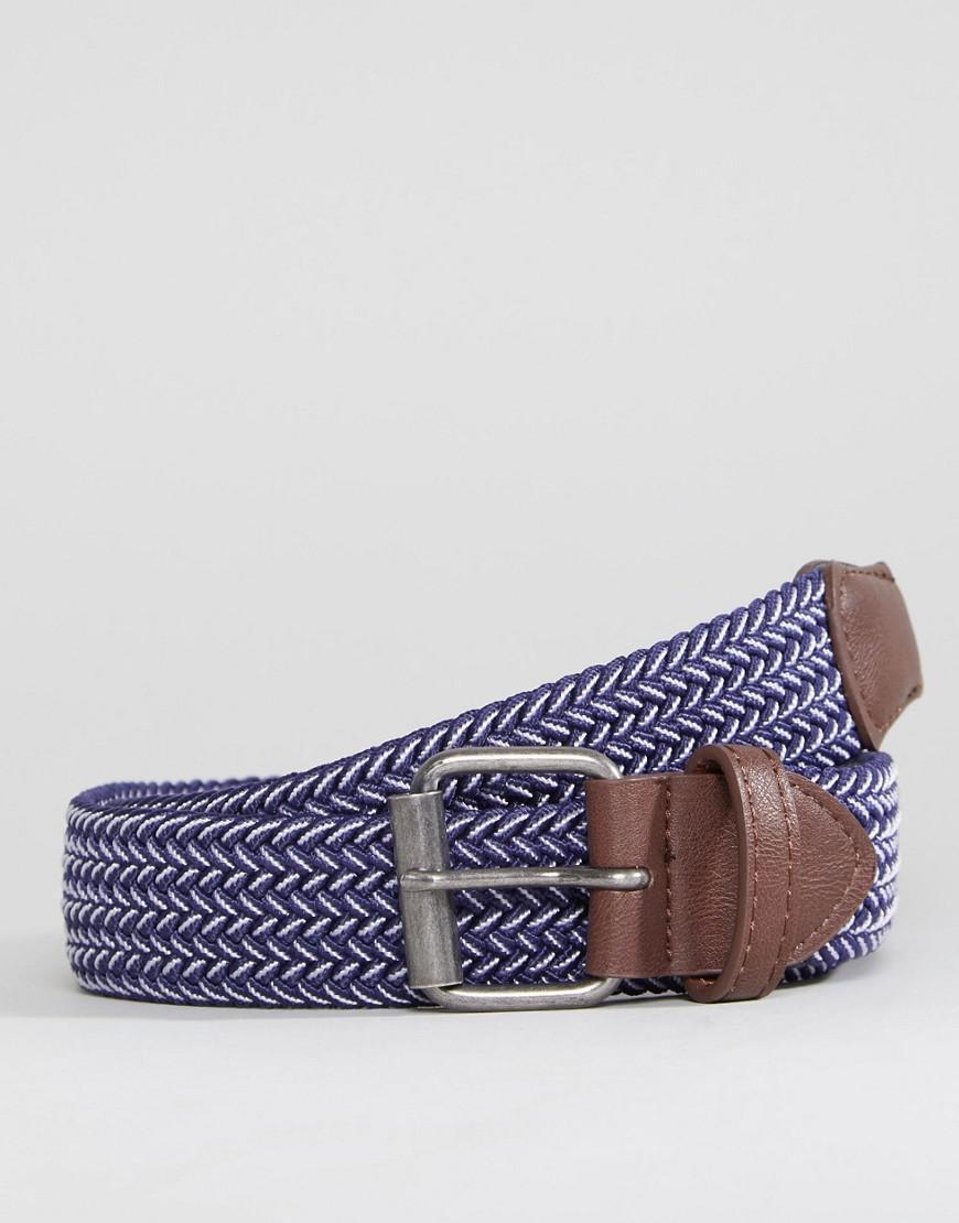 e3e7c320b29a Lyst - Large ceinture tressée ASOS pour homme en coloris Bleu