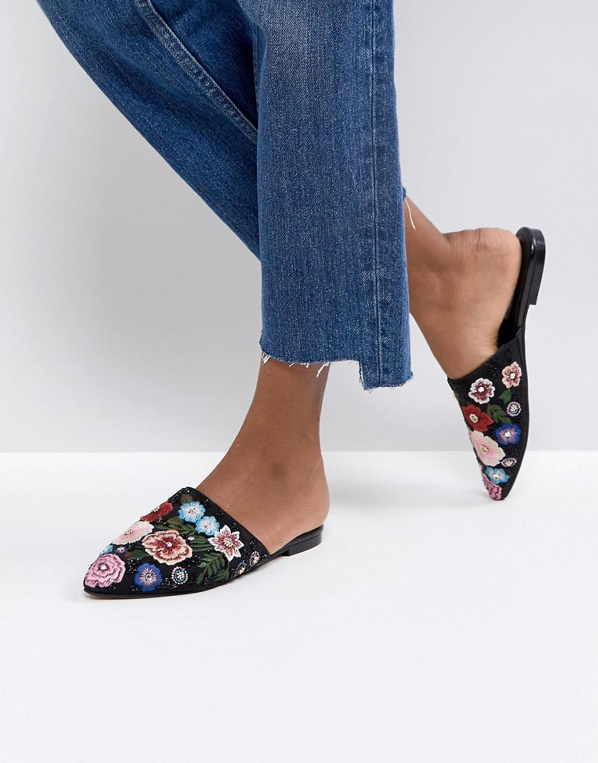 MOONFLOWER Wide Fit Embellished Mules cheap sale official site geniue stockist sale online outlet low cost buy cheap outlet store 0VOewz
