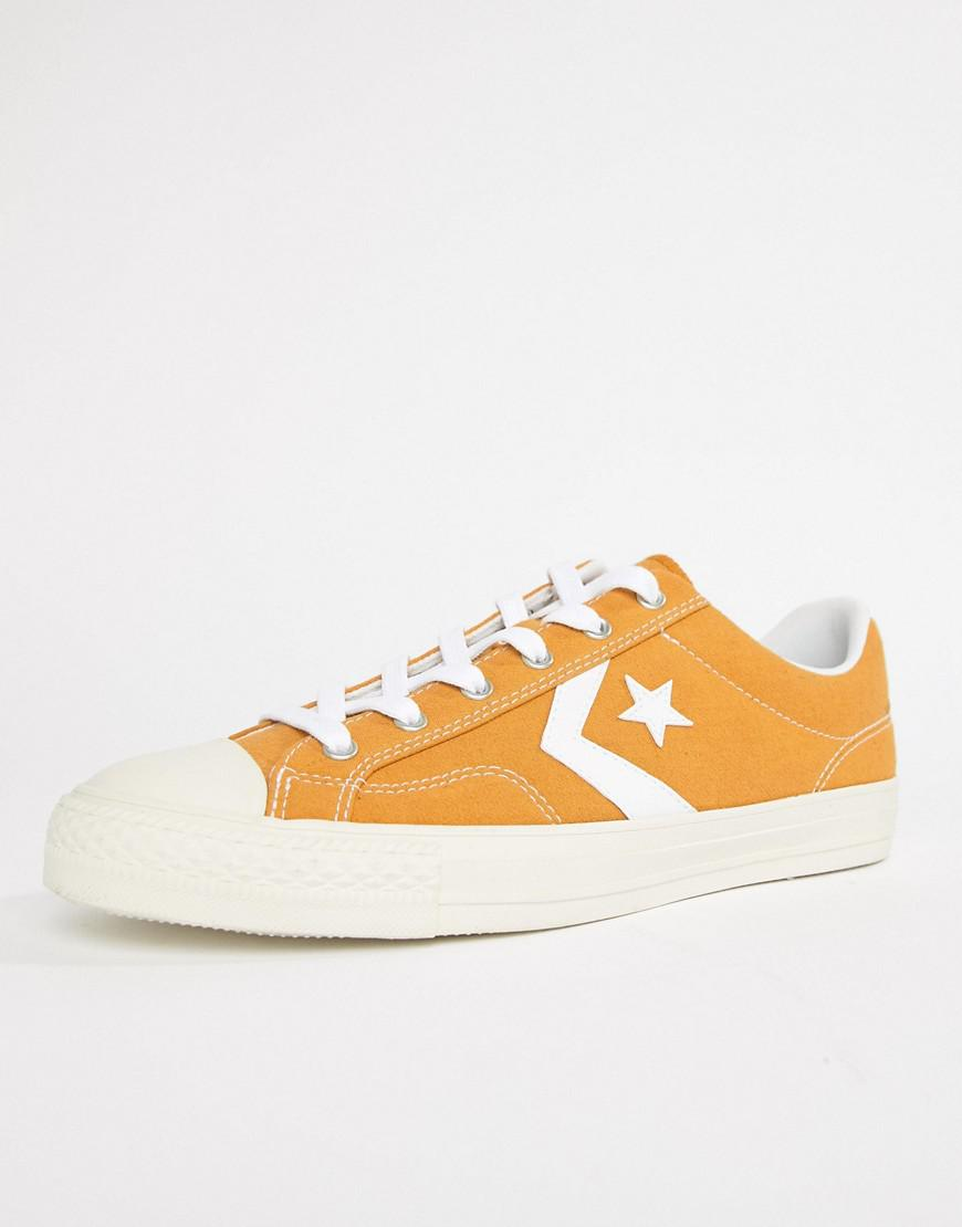 53f18e4b711c Lyst - Converse Star Player Ox Plimsolls In Yellow 161568c in Yellow ...