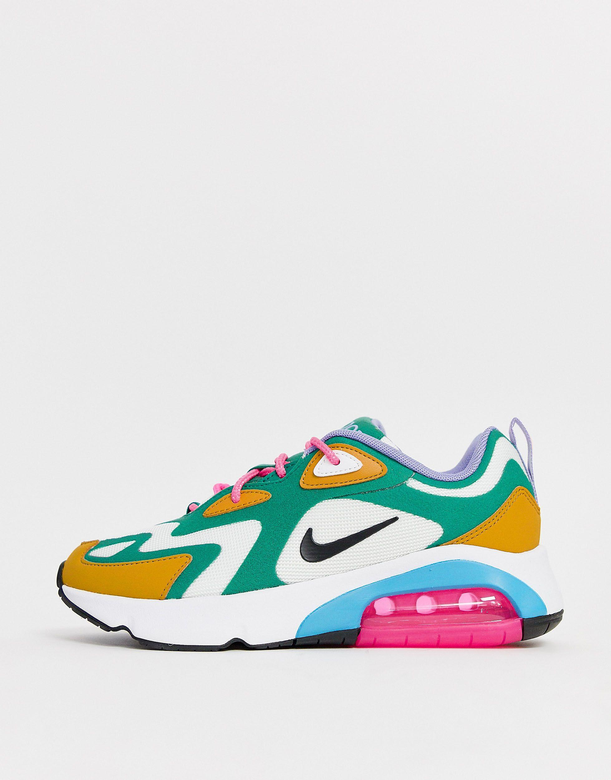 Nike Rubber Multi Air Max 200 Trainers