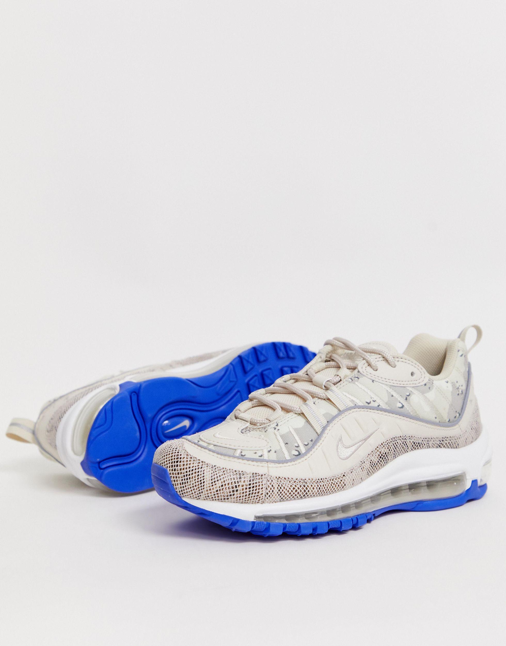 Air Max 98 - Baskets à imprimé serpent en Cuir Nike - Lyst