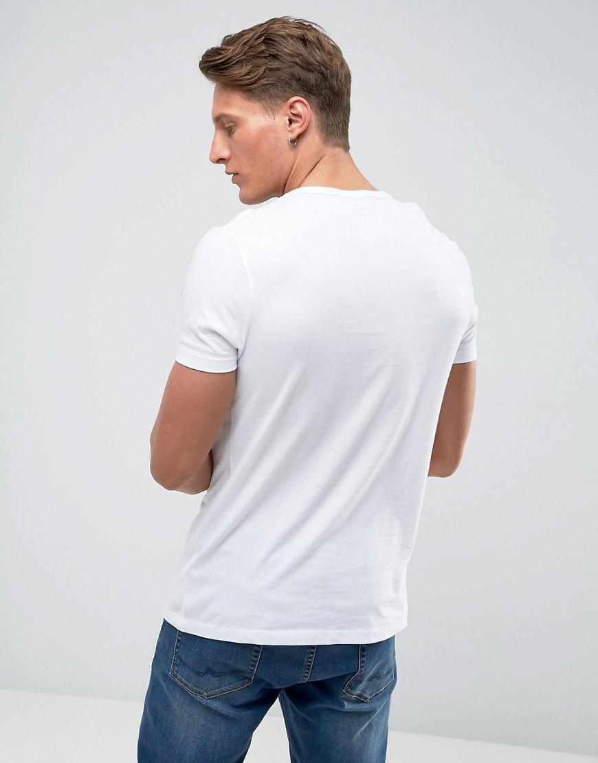 e76fd691 ASOS Muscle Fit T-shirt With Deep V Neck In White in White for Men - Save  20% - Lyst