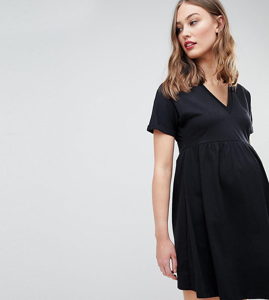 60f1f87fb2 Lyst - ASOS Asos Design Maternity Ultimate Cotton Smock Dress in Black