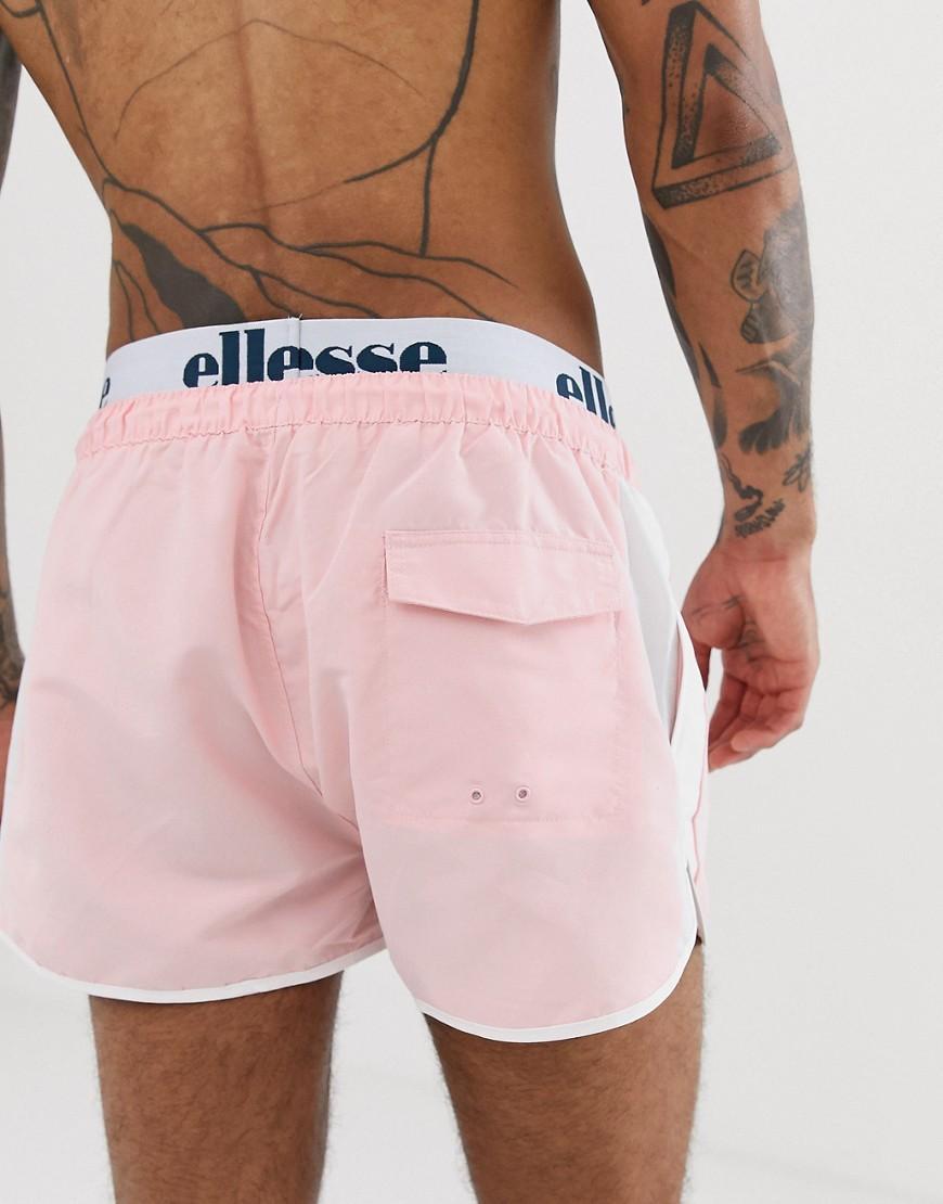 Ellesse Nasello - Zwemshorts Met Gelaagde Tailleband in het Roze voor heren