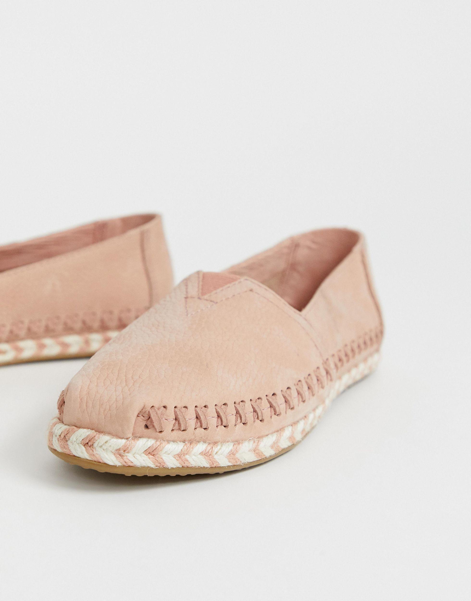 TOMS Rubber Alpargata Blush Leather
