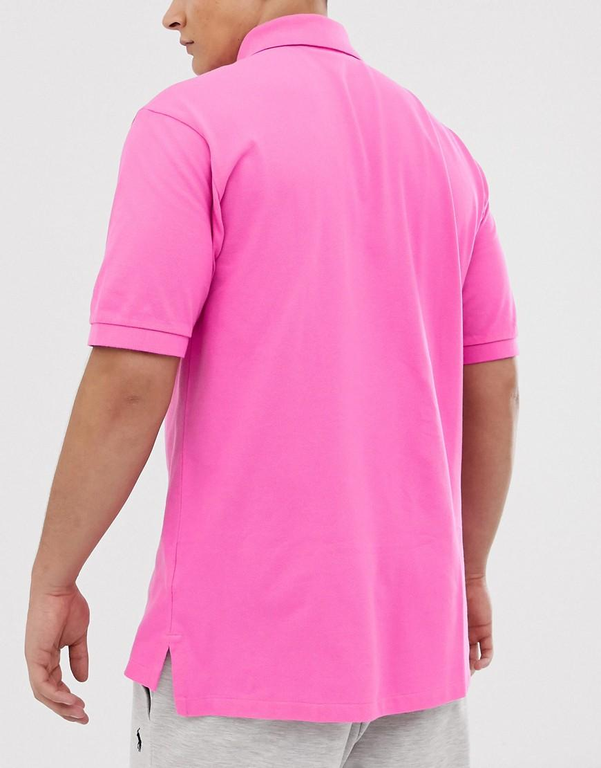 55626285c Polo Ralph Lauren Big & Tall Player Logo Pique Polo In Bright Pink in Pink  for Men - Lyst