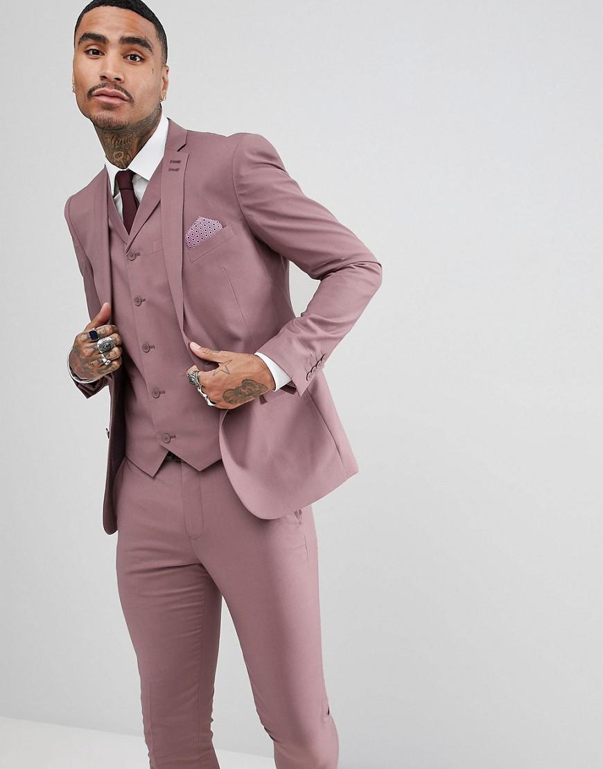 Lyst - Veste de costume slim pastel de mariage Rudie pour homme en ... 107ddcc51af