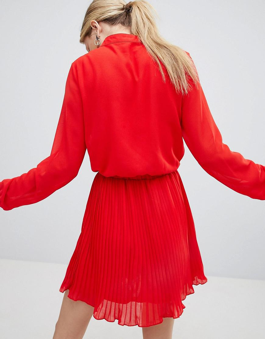 Unique 21 Red Pleated Dress - Red Unique21 k6fsP1r
