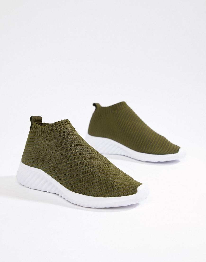 ASOS Denim Darlington Sock Sneakers in