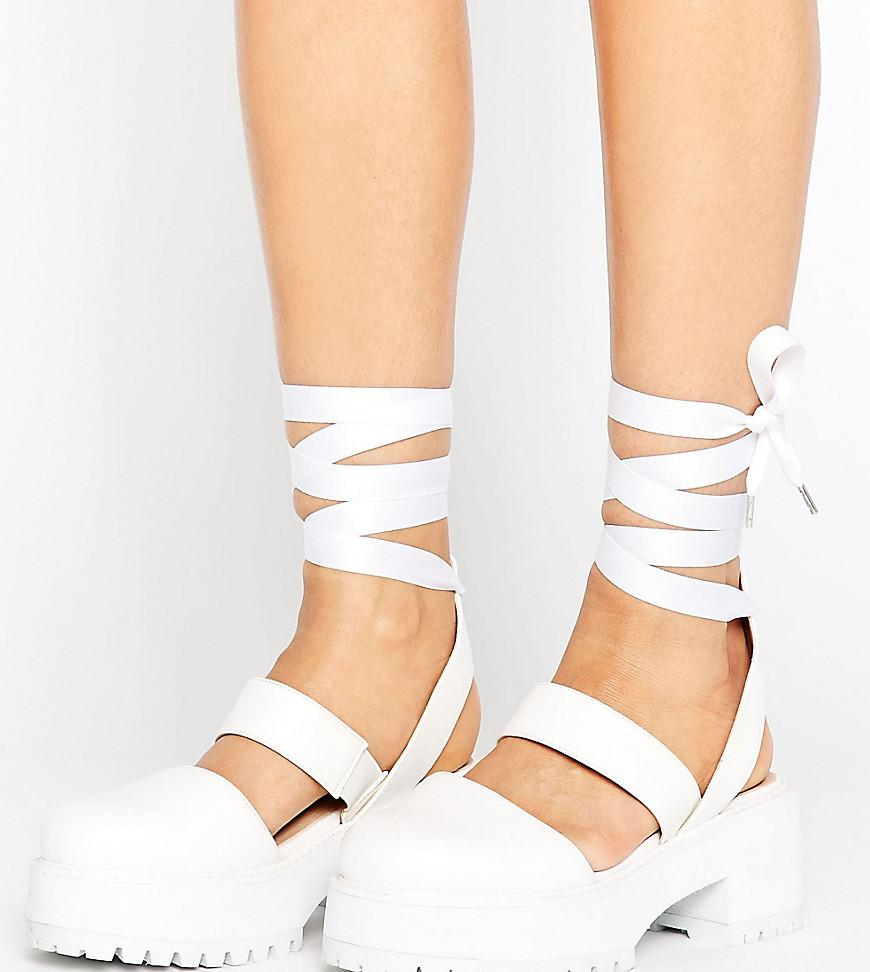 ASOS Oblong Wide Fit Chunky Heels in