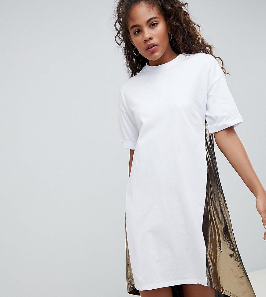 211ee778196bf ASOS. Women's Asos Design Tall T-shirt Dress With Metallic Dip Back