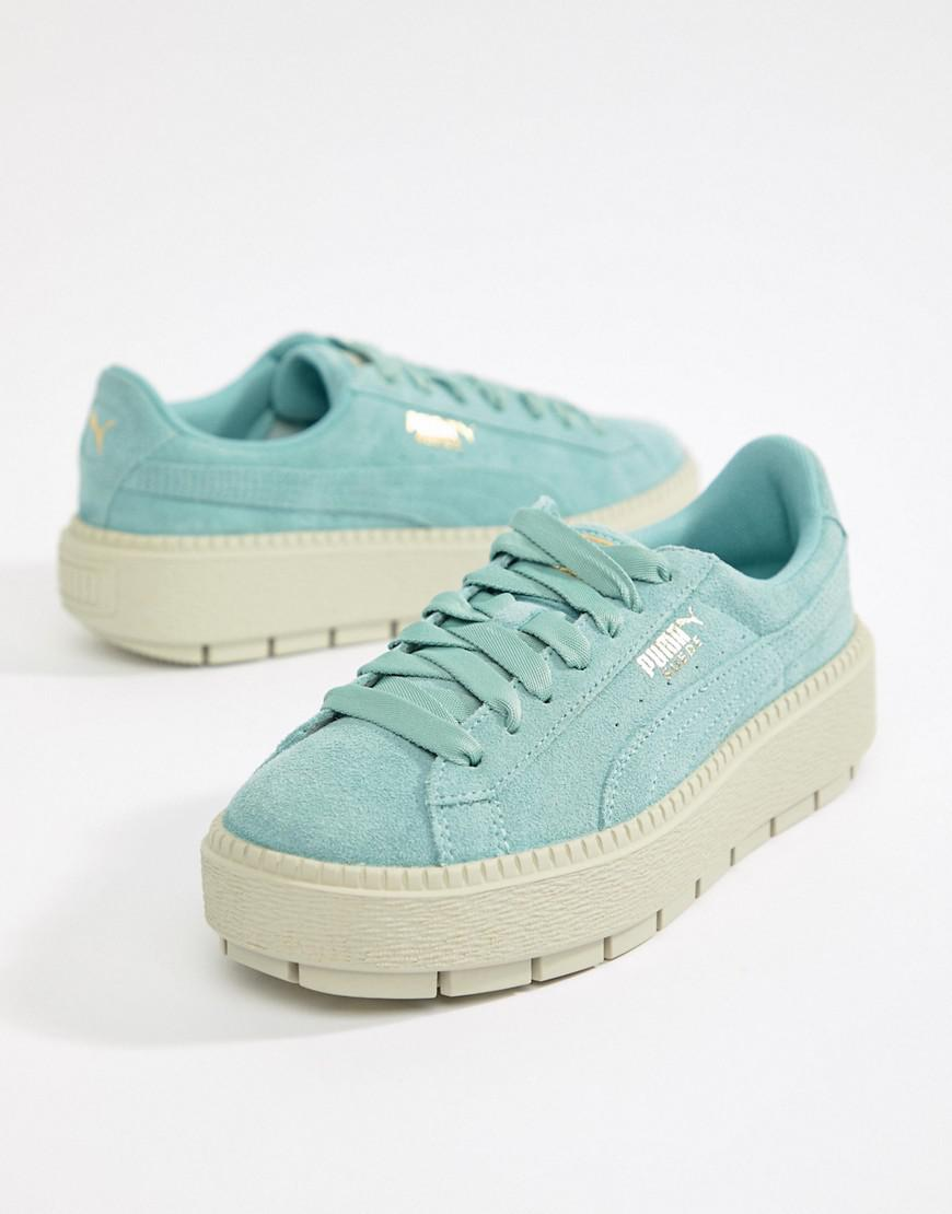 Lyst - Puma Platform Trace Trainer in Blue 408968984