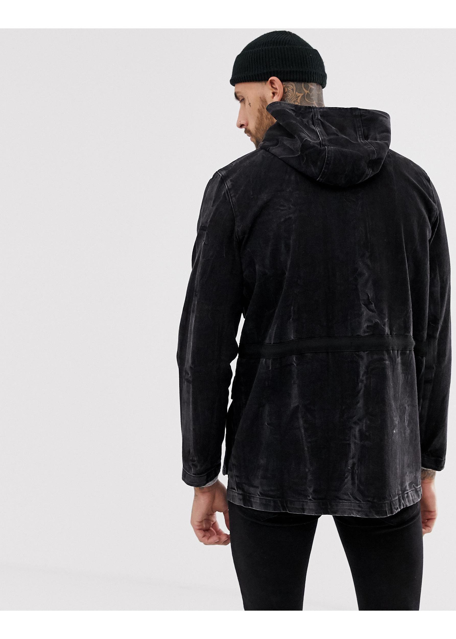 ASOS Denim �?Jeans-Parka in Schwarz für Herren 3CKmP