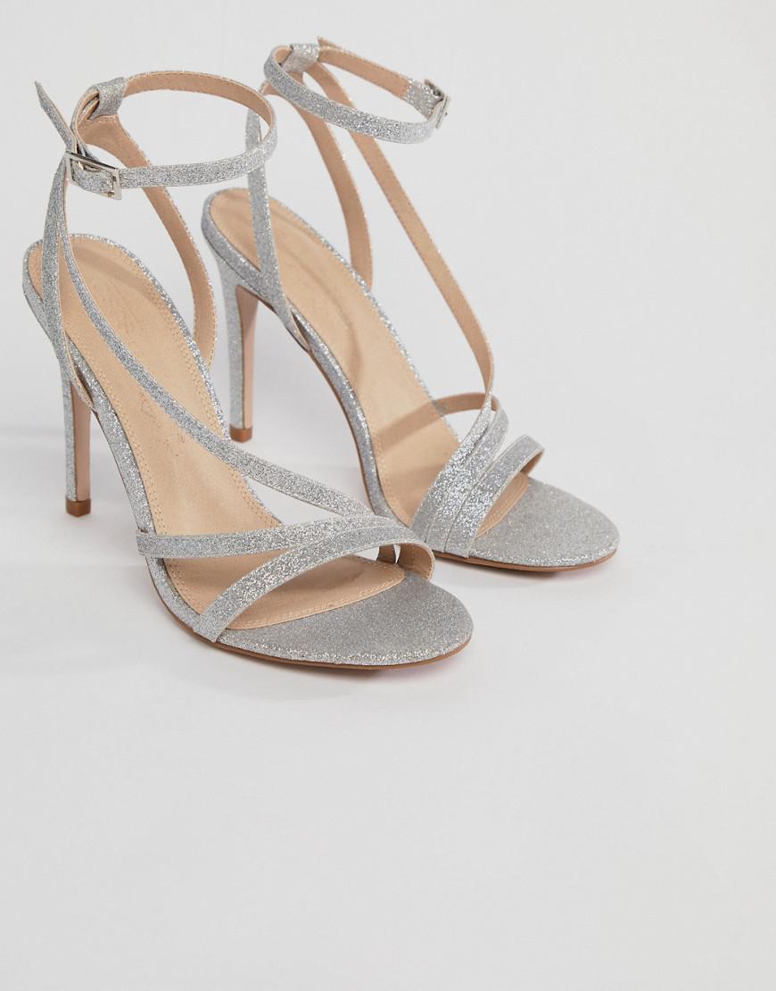 e80c4f468b1 ASOS Asos Homecoming Heeled Sandals in Metallic - Lyst