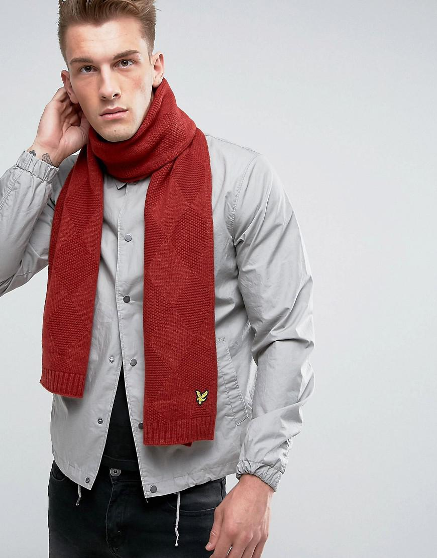 Diamond Knit Beanie - Red Lyle & Scott aNOKpP