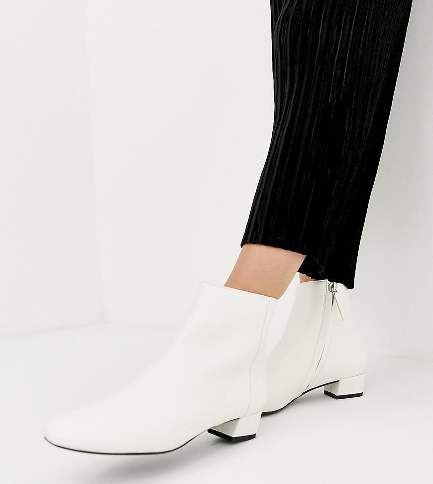 b983b3a4b6f2 Lyst - Mango Almond Toe Ankle Boots In White in White