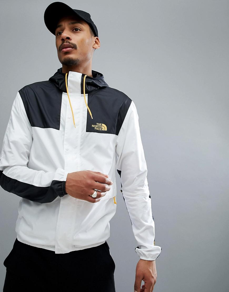 sells wide range pretty cool The North Face 1985 Mountain Jacket Hooded 2 Tone In White/black ...