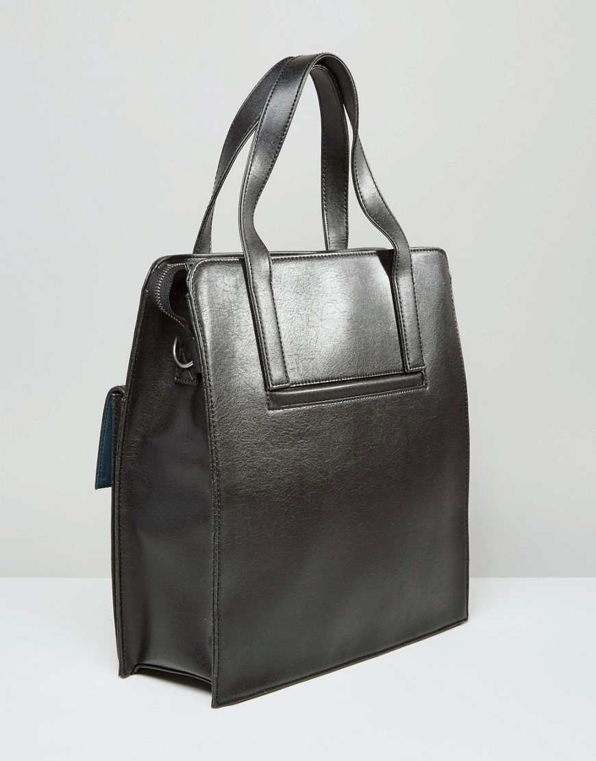 Matt & Nat Leather August Tote in Black for Men
